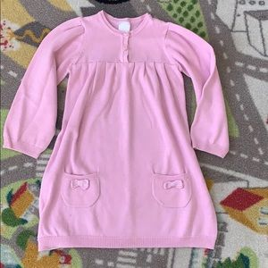 Pink Knit Sweater Tunic Dress Girls 2T Long Sleeve